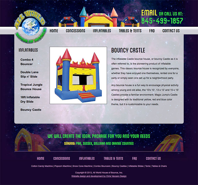 All World House of Bounce inflatables page