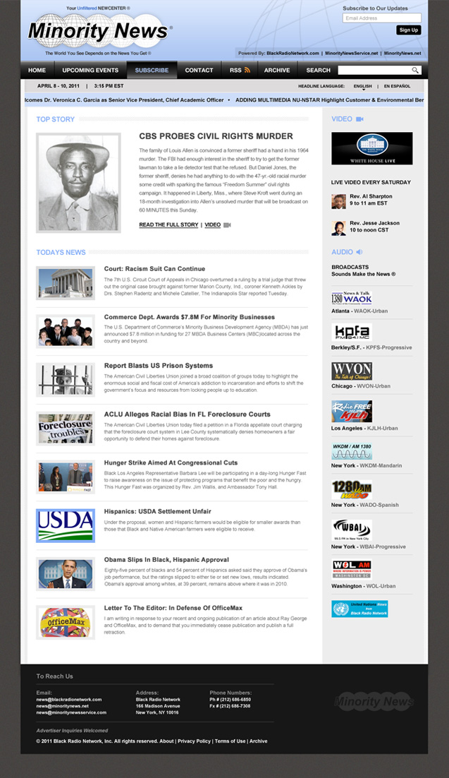 Black Radio Network homepage