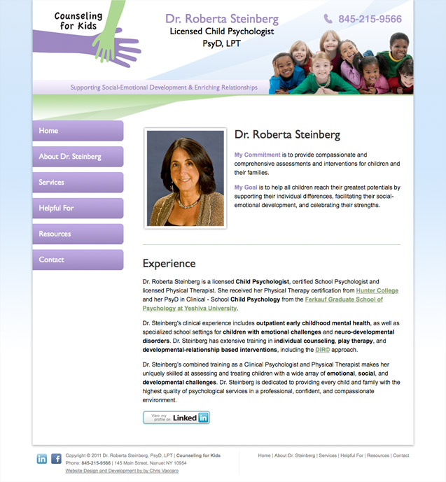 counseling for kids about page