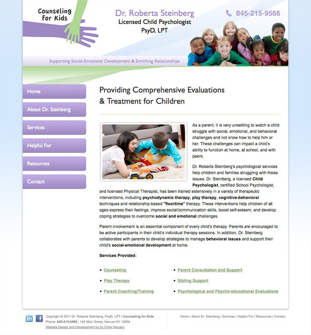 counseling for kids homepage