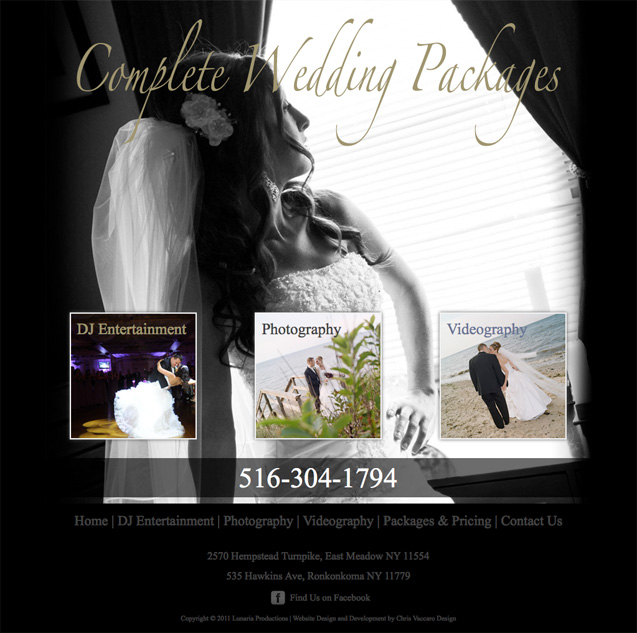 Complete Wedding Packages homepage