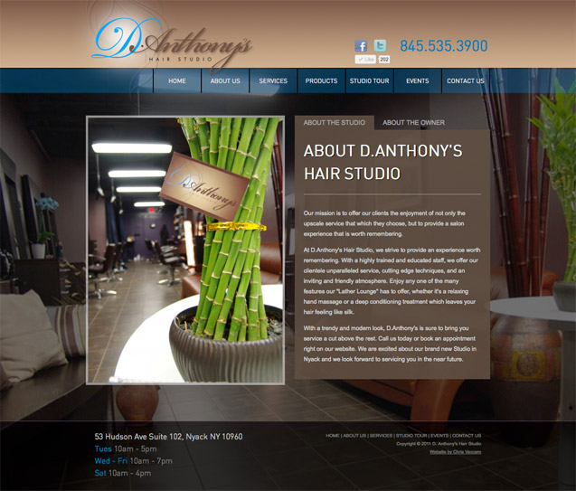 D.Anthony's Hair Studio - About the Studio and Owner
