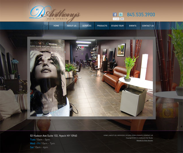 D.Anthony's Hair Studio Homepage