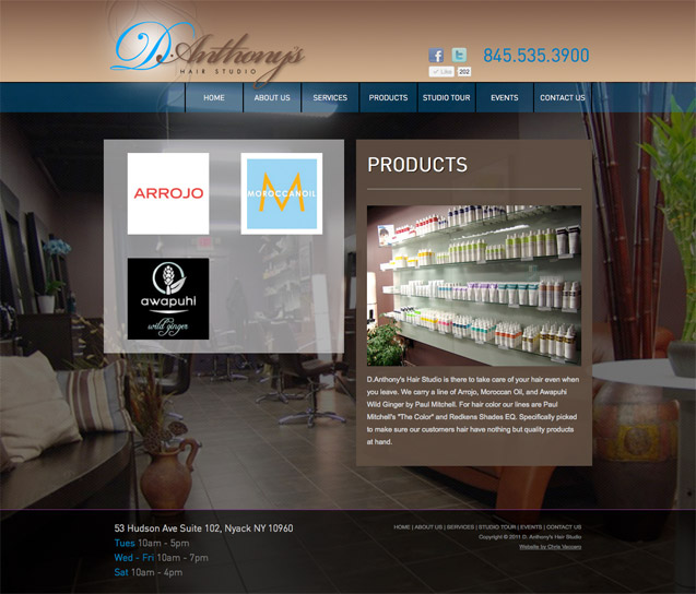 D.Anthony's Hair Studio - Products