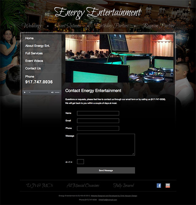 Energy Entertainment contact