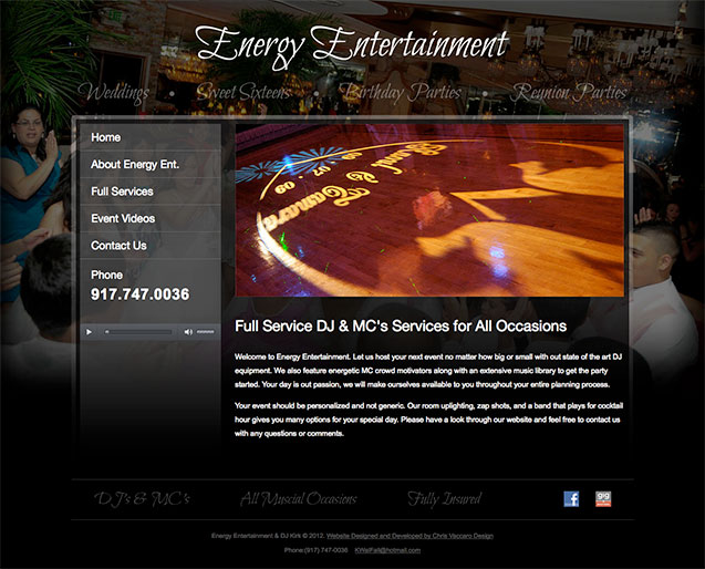 Energy Entertainment homepage