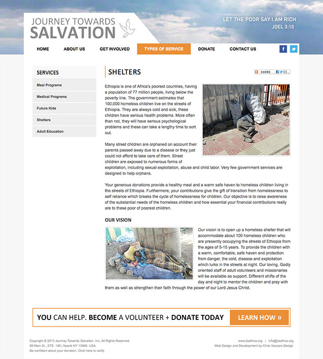 journey towards salvation shelters page