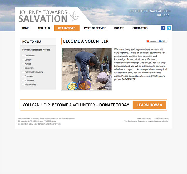journey towards salvation volunteer page
