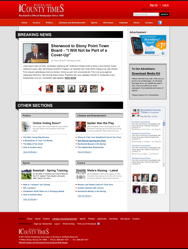 Rockland County Times homepage