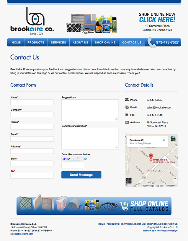 brookaire contact page