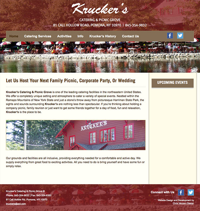 Kruckers Catering & Picnic Grove homepage