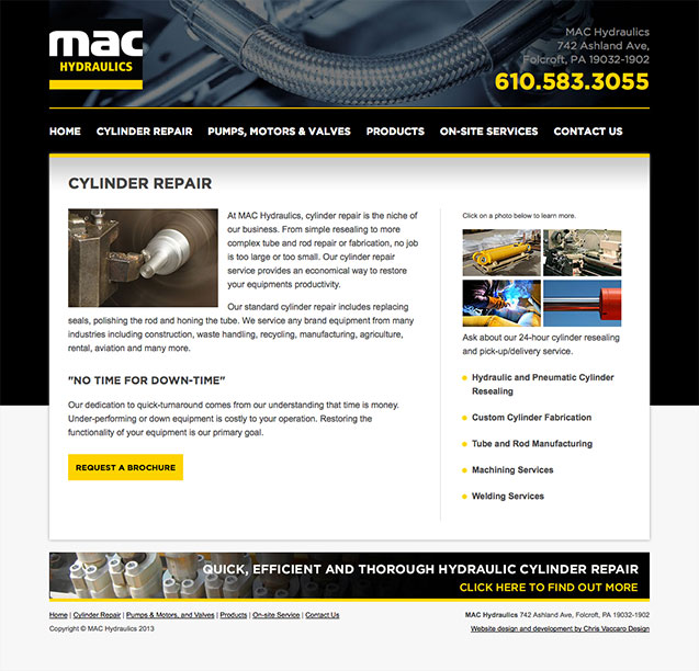 MAC Hydraulics cylinder repair page
