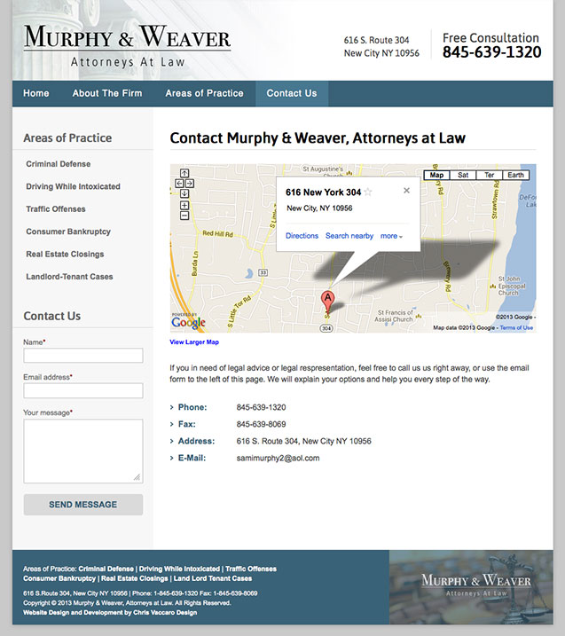 Murphy Weaver Law contact page