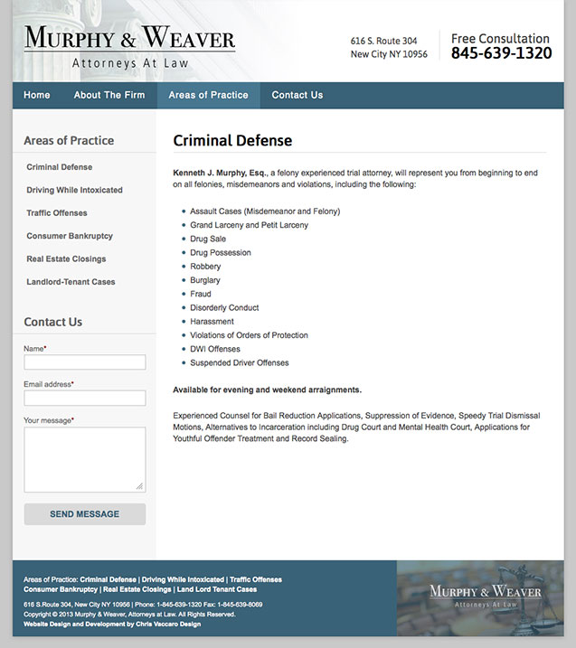 Murphy Weaver criminal law page