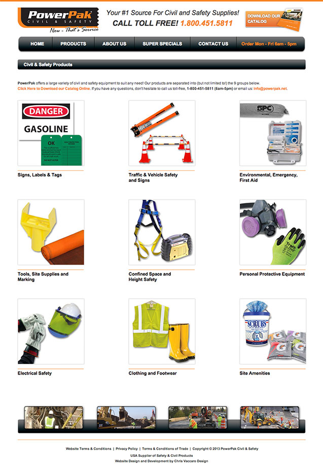 Powerpak Products page