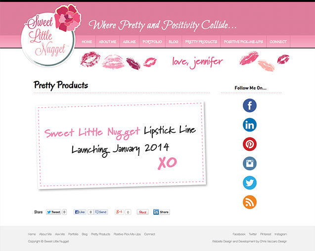 Sweet Little Nugget products page