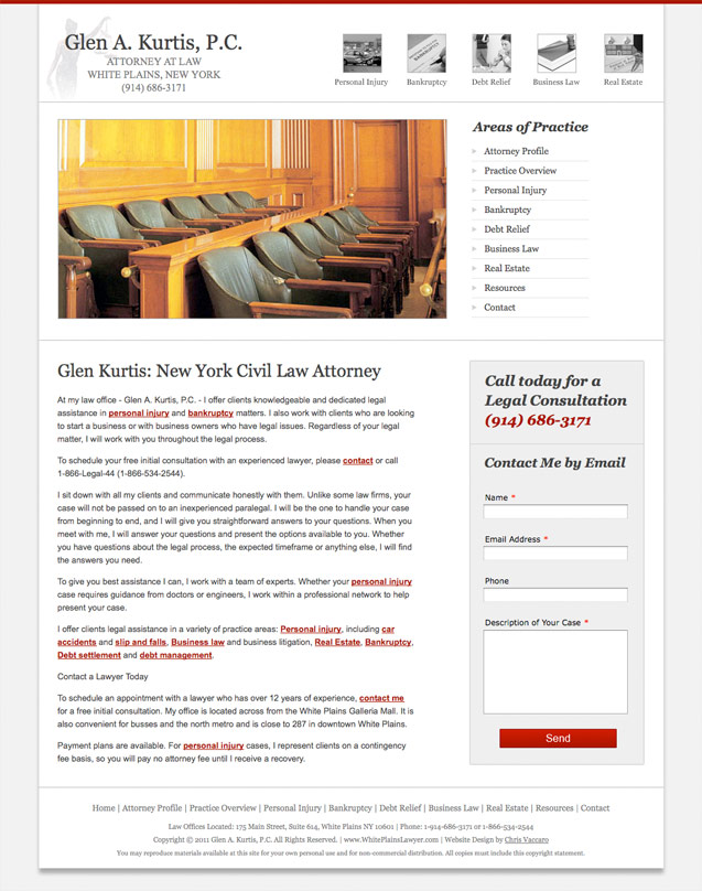 white plains lawyer homepage