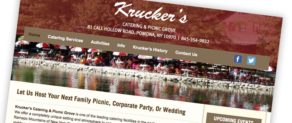 Kruckers Catering & Picnic Grove slide